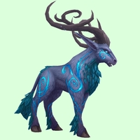 Purple & Teal Runestag w/ Upswept Horns