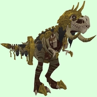 Brown Skeletal Devilsaur w/ Helmet & Old Gold Armour