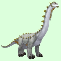 White & Gold Brutosaur