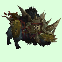 Armored Black Draenor Boar