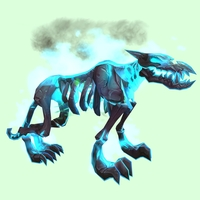 Blue Infernal Hellhound w/ Blue Flames & Rippled Belly
