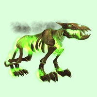 Green Infernal Hellhound w/ Green Flames