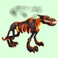 Orange Infernal Hellhound w/ No Flames