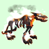 Orange Infernal Hellhound w/ White Flames & Green Belly