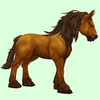 Light Chestnut Horse w/ Long Mane