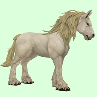 Light Palomino Horse w/ Long Mane