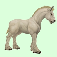 Light Palomino Horse w/ Short Mane/Tail