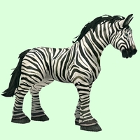 Zebra-Striped Horse