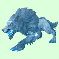 Silver-Blue Storm Wolf