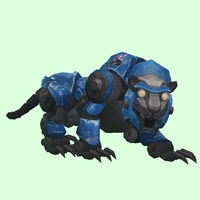 Blue-Black Mechanical Tiger