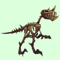 Darkened Bronze Skeletal Raptor