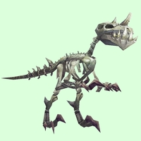 White Skeletal Raptor