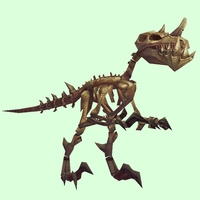 Bronze Skeletal Raptor