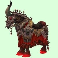 Bright Red Skeletal Warhorse