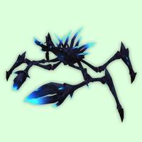 Black Spider Crab w/ Blue Luminescence