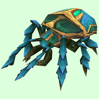Turquoise Scarab w/ Green Spots