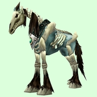 Blue Skeletal Horse