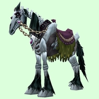 Saddled Black Skeletal Horse