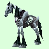 Black Skeletal Horse