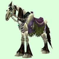 Saddled Purple Skeletal Horse
