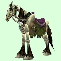 Saddled Brown Skeletal Horse