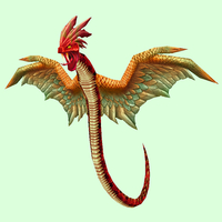 Red Wind Serpent w/ Orange Wings