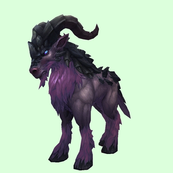 Dark Purple Rugged Talbuk w/ Backswept Horns