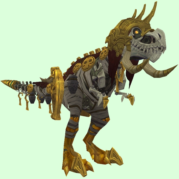 Gold-Embossed Skeletal Devilsaur w/ Helmet & Gold Armour