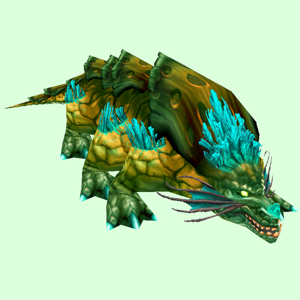 Green Basilisk w/Blue Fringes