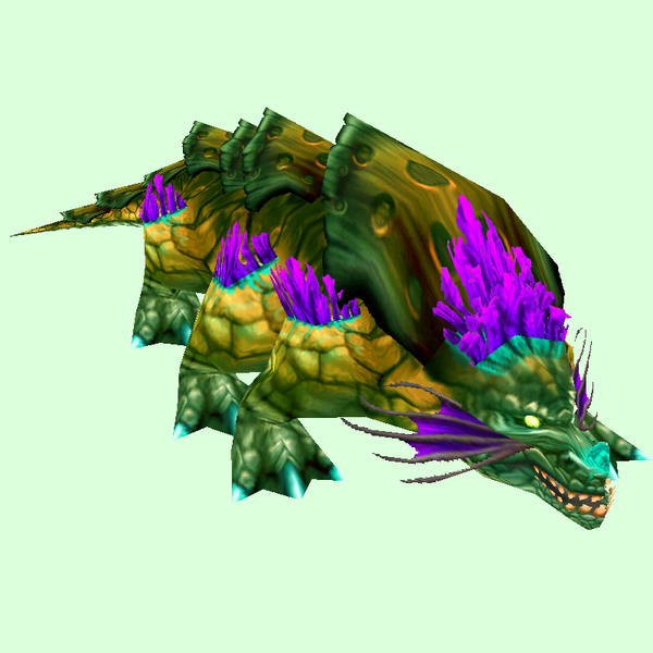 Green Basilisk w/Purple Fringes