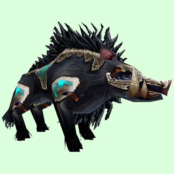 Armored Black Boar