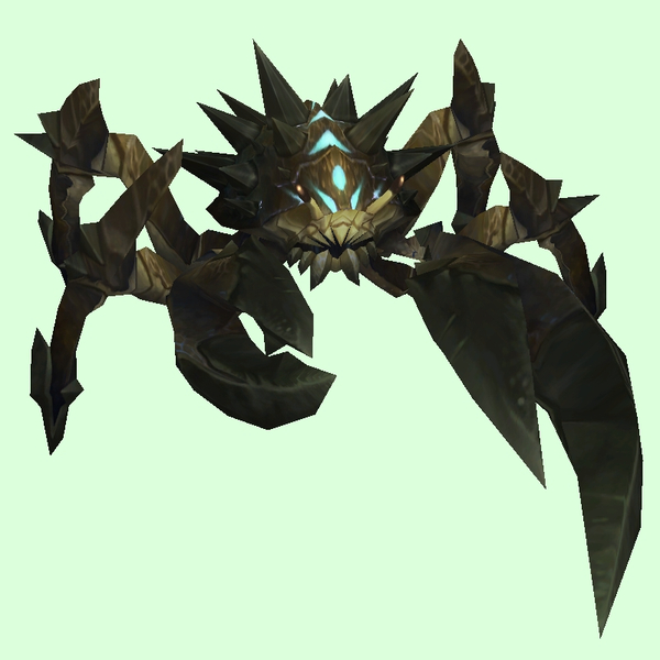 Black w/Blue Spiked Crab