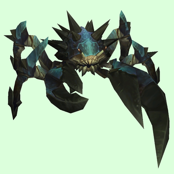 Blue-Black Spiked Crab