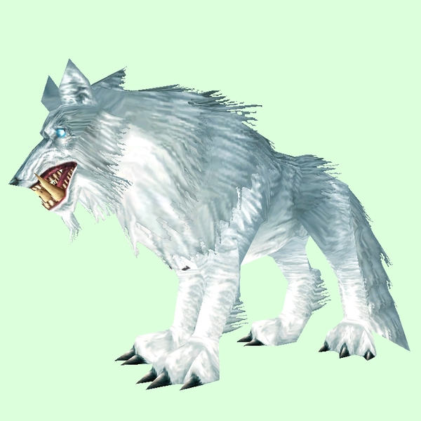 Silver Worg w/ Glowing Eyes