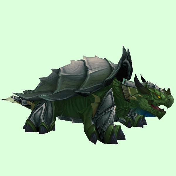 Grey & Dark Green Spiked Dragon Turtle