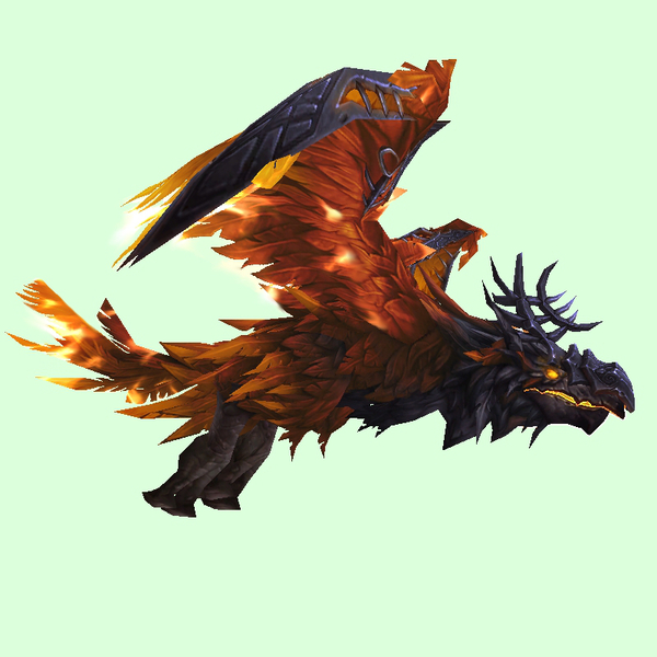 Armoured Fiery Red Dread Raven