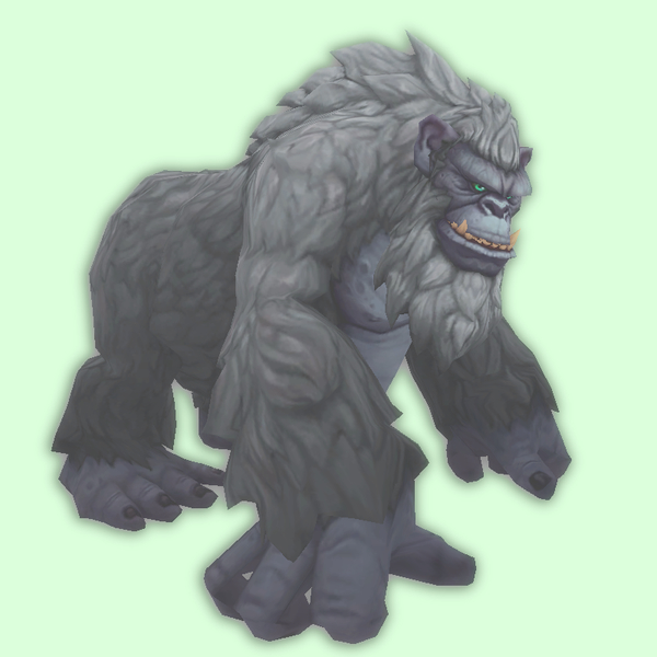 Ghostly Steel Grey Gorilla