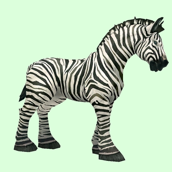 Zebra-Striped Horse w/ Short Mane/Tail