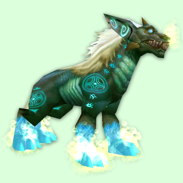 Green Runed Demon Dog