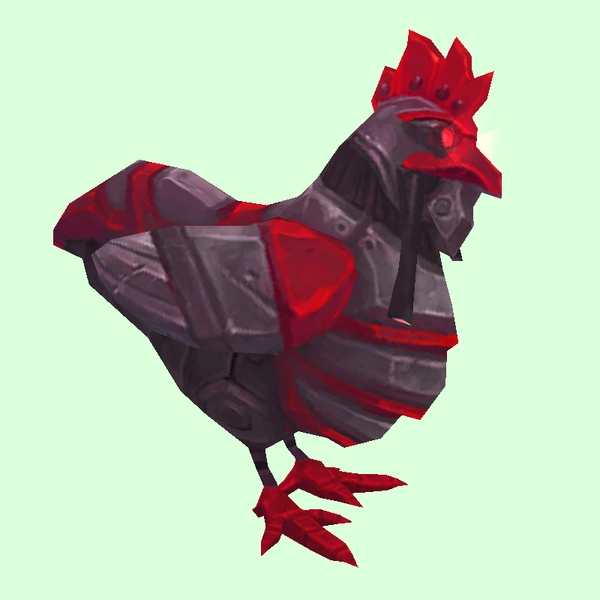 Red & Black Mechanical Chicken