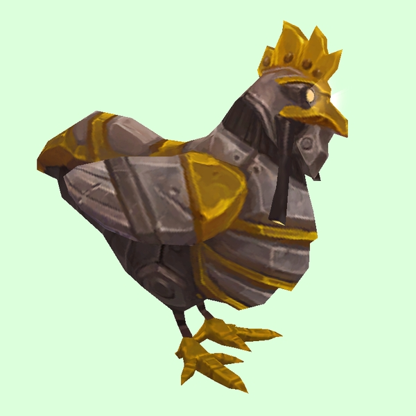 Gold & Grey Mechanical Chicken