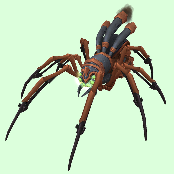 Copper-Grey Mechanical Spider