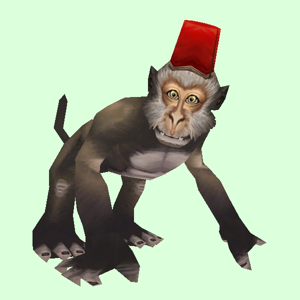 Brown Monkey with Fez