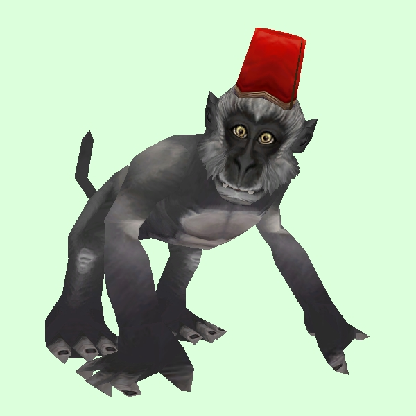 Grey Monkey with Fez