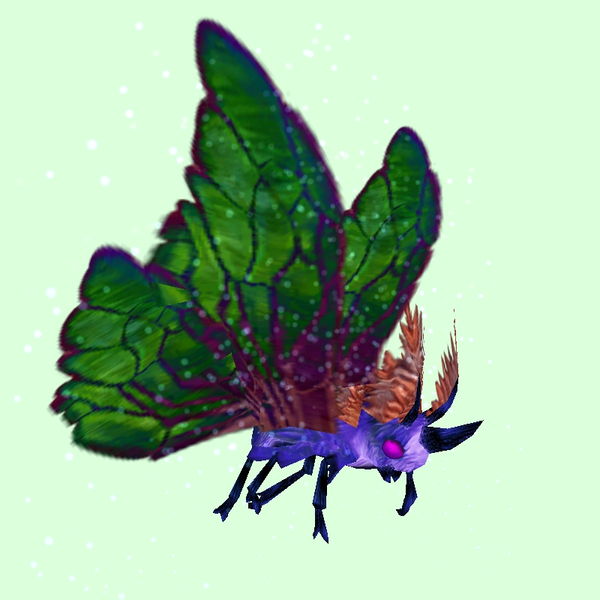Purple Moth w/ Green Wings