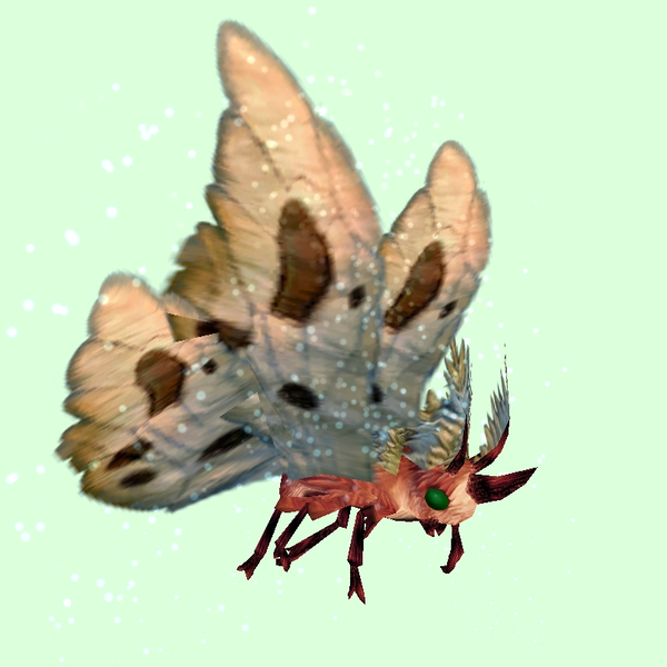 Red Moth w/Beige Wings