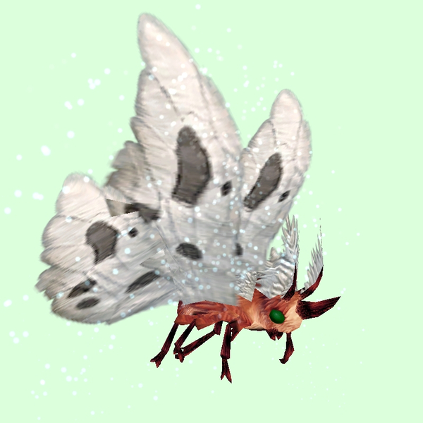 Red Moth w/ White Wings