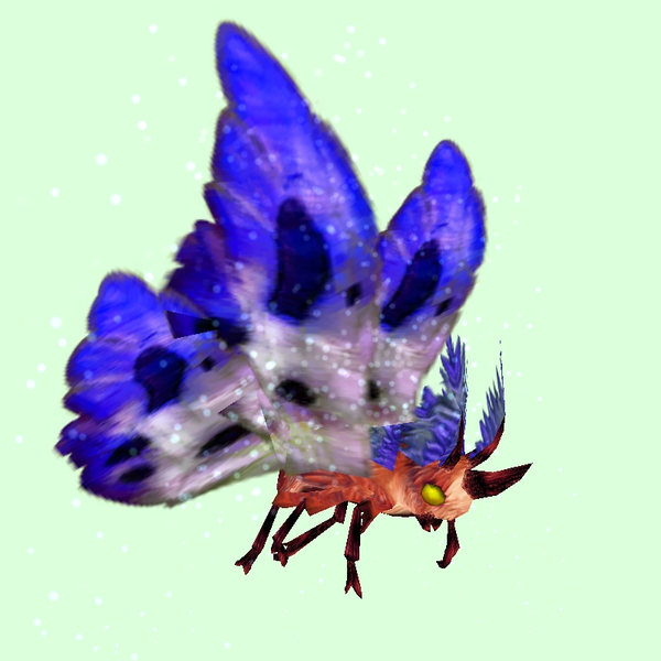 Red Moth w/ Indigo & White Wings