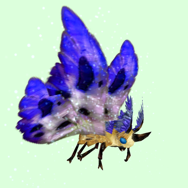 Yellow Moth w/ Indigo & White Wings