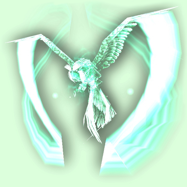 Spectral Green Owl